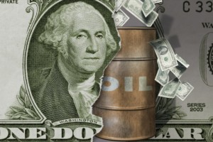Crude oil barrel and US Dollar